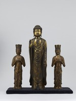 Amitabha Tathāgata and the two attendants (Amitabha Triad in the Zenkoji temple style) image