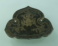 Gilt bronze lotus-flower arabesque stand for vajra rituals image