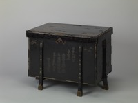 Six-legged Chinese-style chest with the motif of Suminoe in mother-of-pearl inlayimage