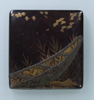 Writing box with boat and reed motif in mother-of-pearl inlayimage