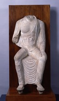 Tathāgata (Nyorai) sitting on the pedestal with legs pendantimage