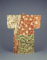 Kosode with Alternating Blocks of Flowers and Plantsimage