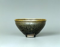 Tenmoku Bowl with Oil-spot Pattern image
