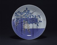 Plate with Wisteria Trellis Patternimage