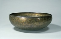 Gili bronze ablution basin with precious-flower arabesque pattern image