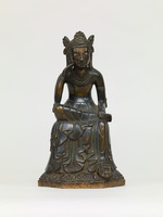 Bodhisattva sitting with his legs half-crossedimage